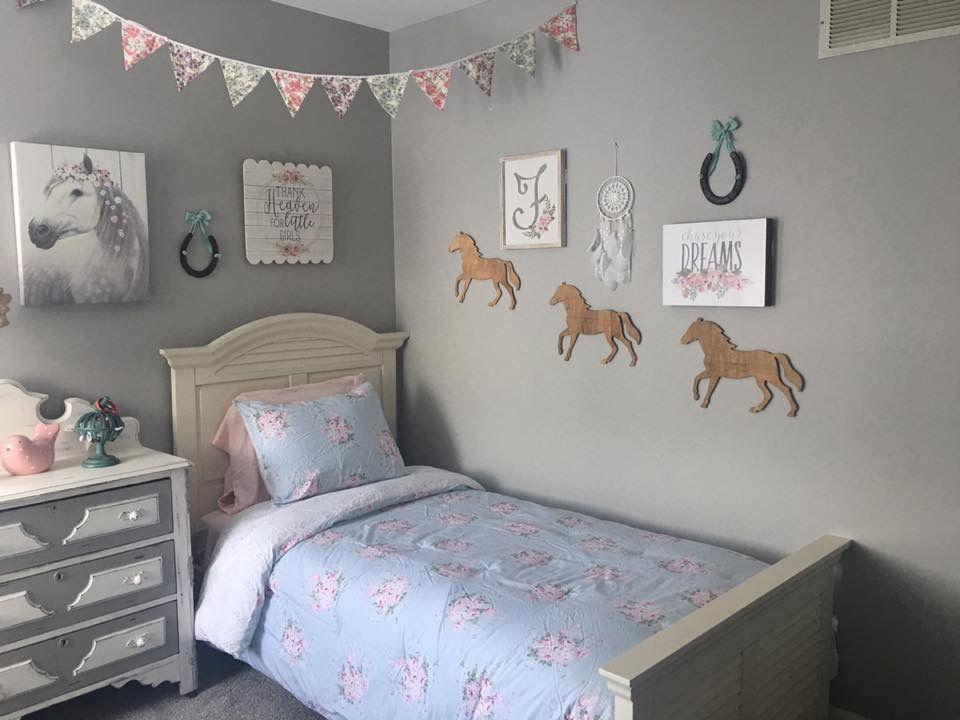 pinfelisha bandfield on girls bedroom  horse room