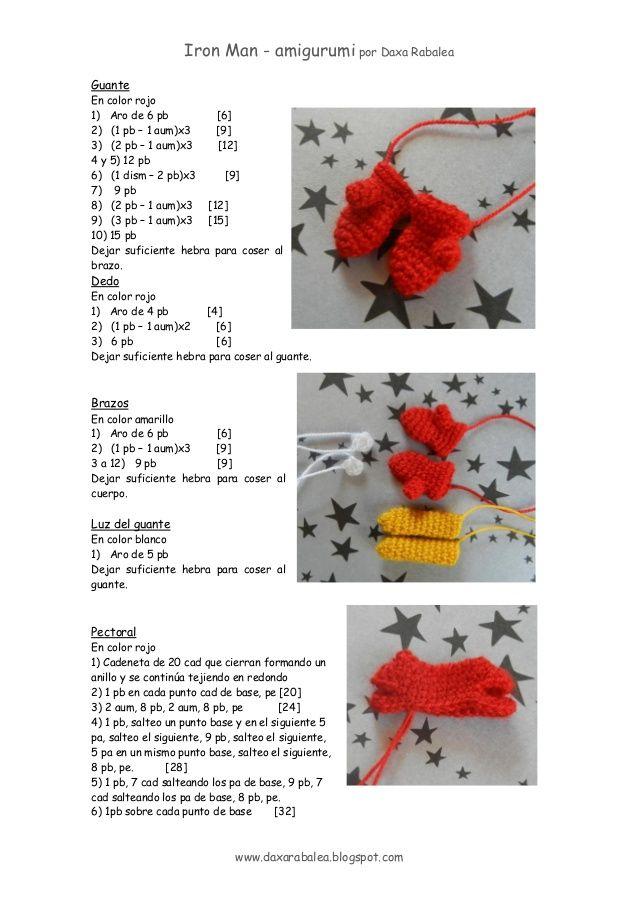 Patron Iron Man - amigurumi | crochet | Pinterest | Patrones ...