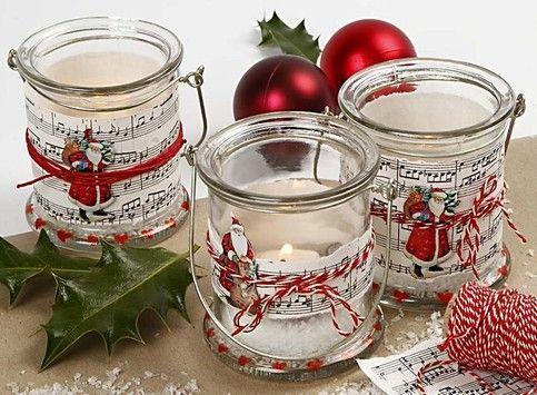 Tischdeko weihnachten basteln  neu: Bastel Projekte für Weihnachten Gläser - Basteln ...