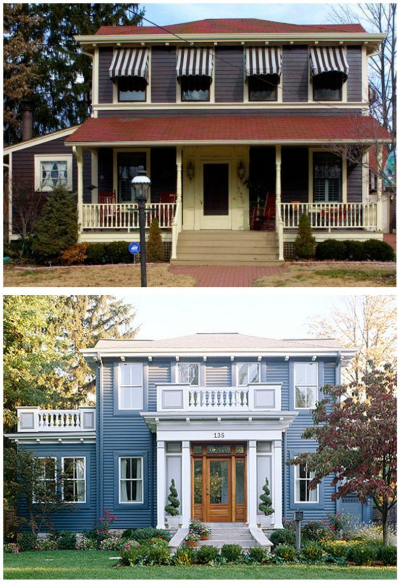 20 Home Exterior Makeover Before and After