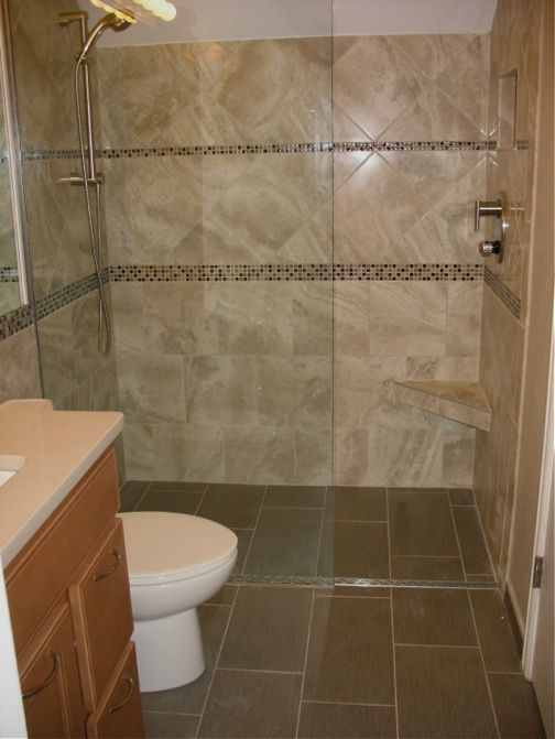 Shower without a curb bathroom remodel pinterest for Country bathroom designs small spaces