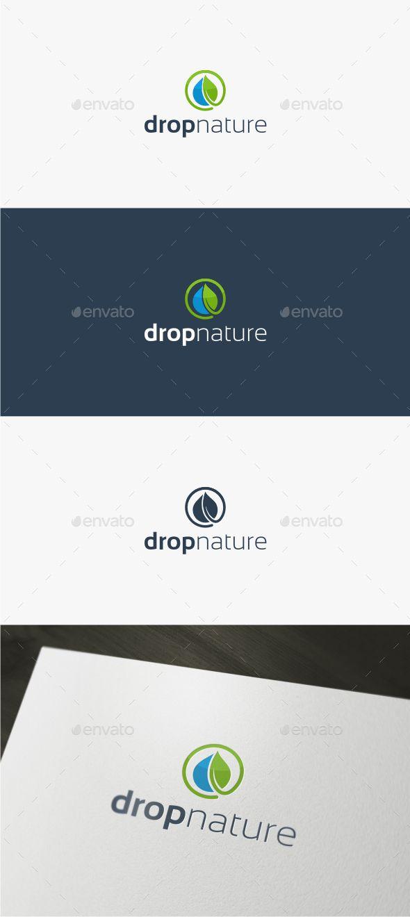 Drop Nature Logo Template Drop Nature