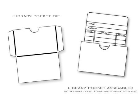 Library Card And Card Pocket | Tutorials | Pinterest | Library