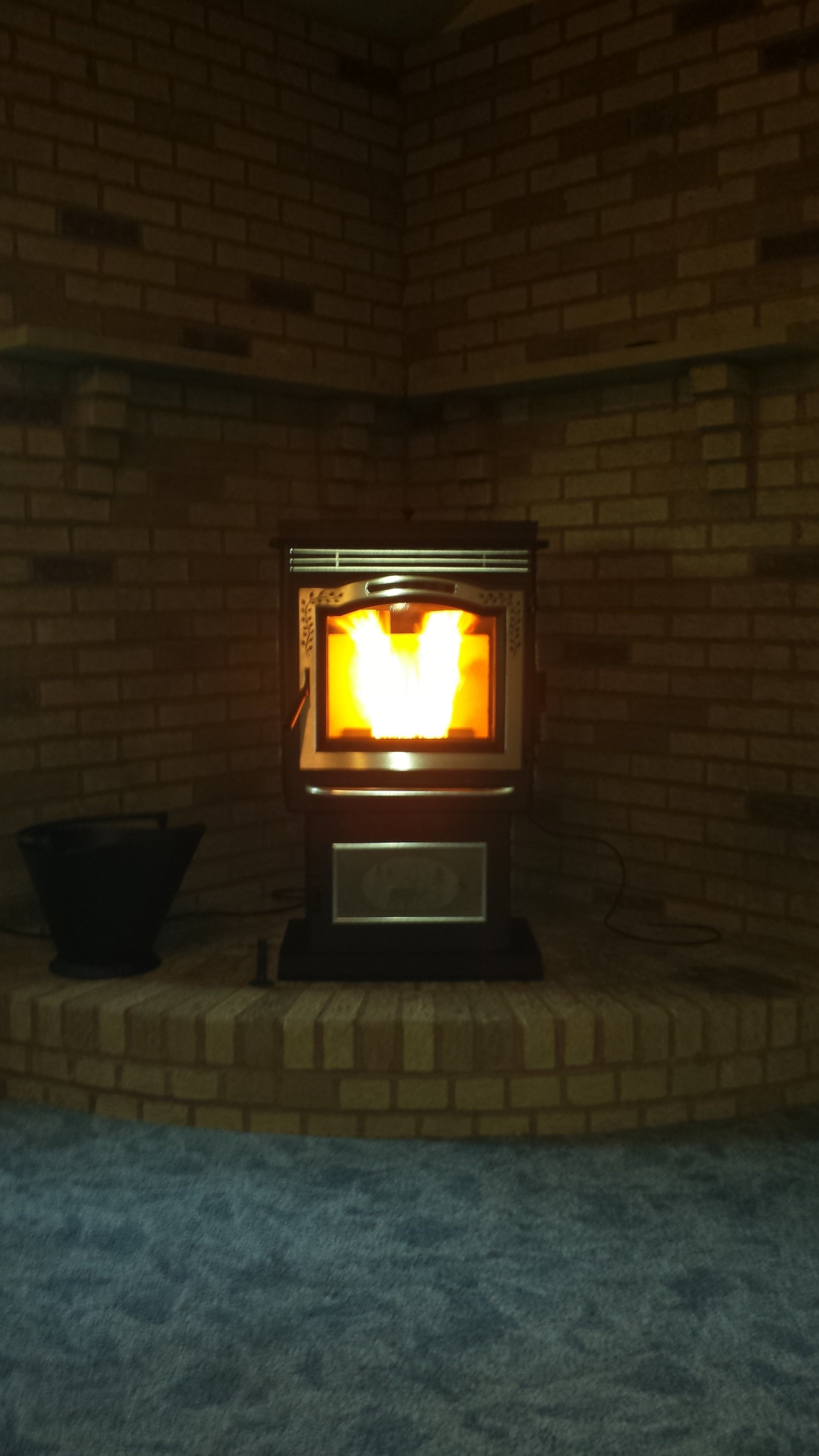 Harman P68 Pellet Stove Fireplace Stores Corner Wood Stove