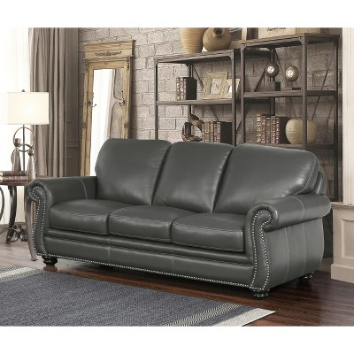kiley leather sofa grey abbyson gray in 2019 products rh pinterest com
