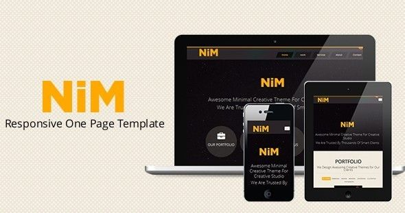 NiM- Responsive One Page Creative Template | Template and Creative ...