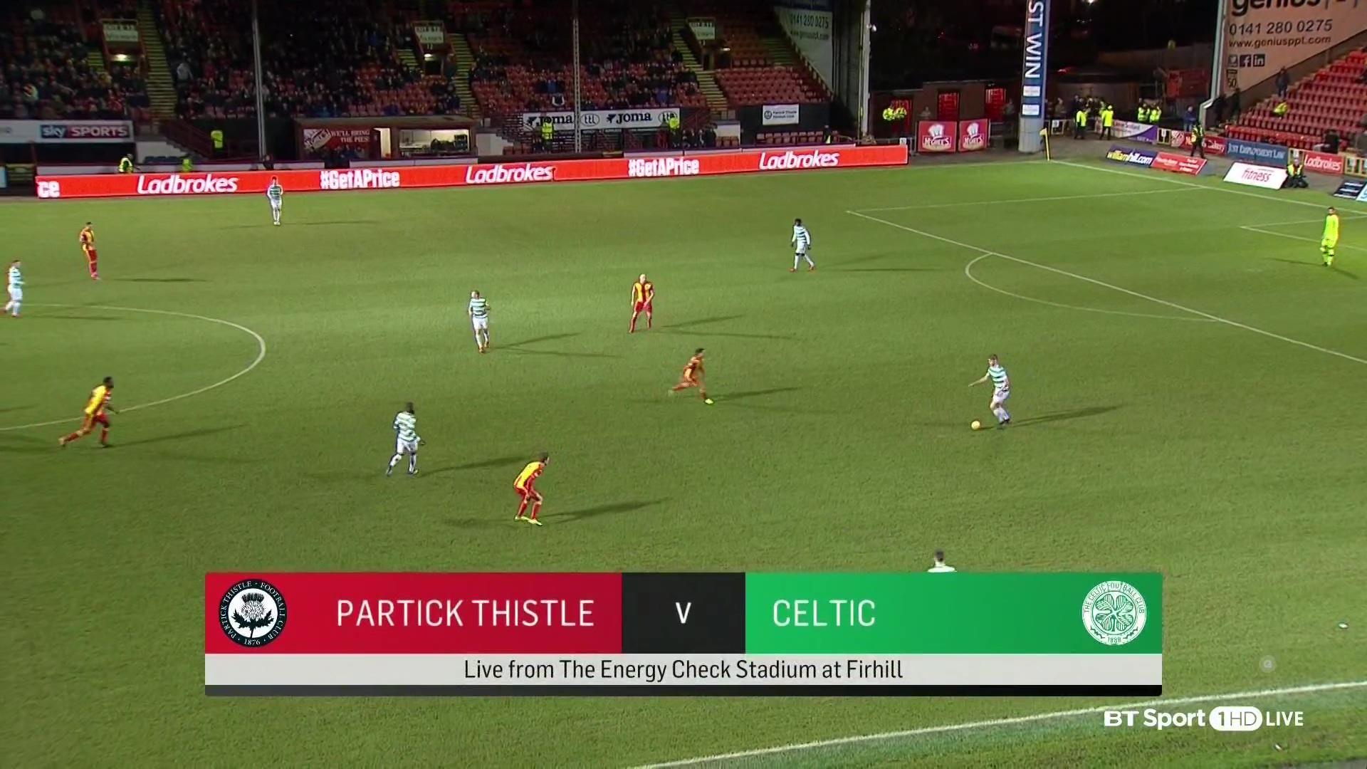 goals Scottish Premier League Partick Thistle vs. Celtic