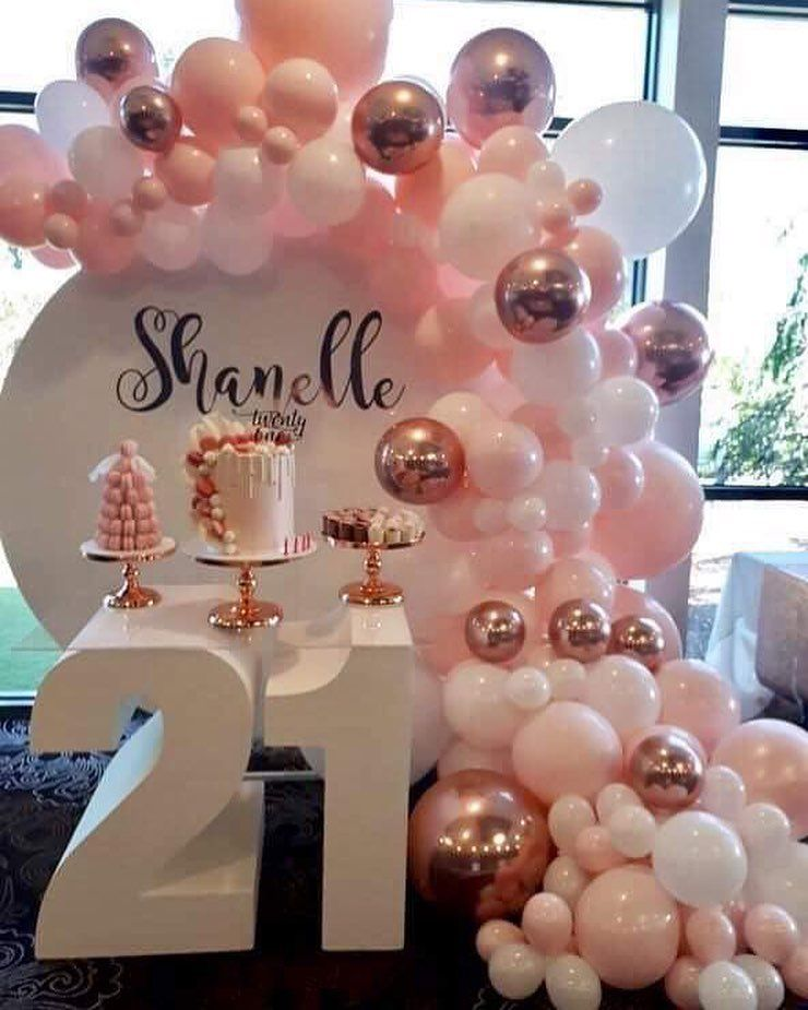 21pcs Happy Birthday Decoration Aufblasbare Heliumfolienballons Baby Shower Deco