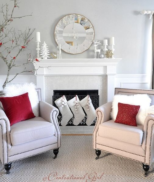 20 very merry rooms decked out for christmas house pinterest rh pinterest com