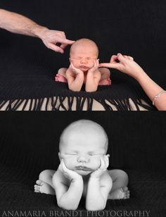 New Ideas For New Born Baby Photography : newborn holding head setup-hardest newborn pose ever