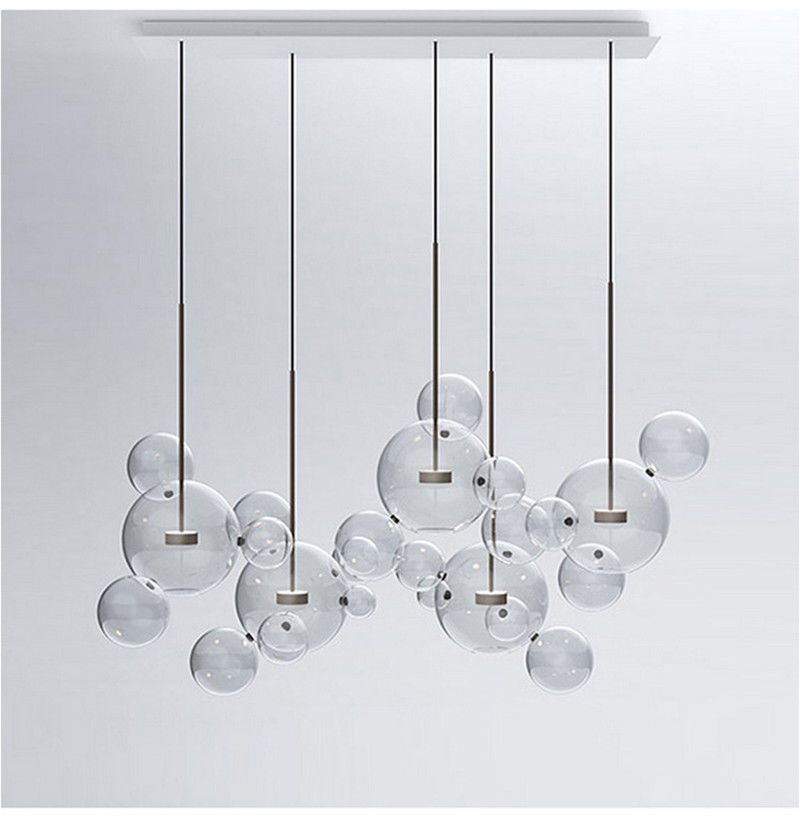 online retailer fb868 22274 Glass Mickey Bubble Pendant Lamp Chandelier New Ceiling ...