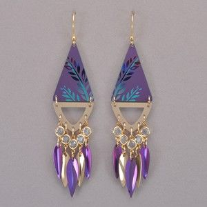 c530fb59b Holly Yashi Kindred Earrings - Purple / Gold | Cool | Pinterest