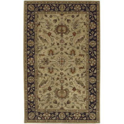 Charlton Home Stanford Hand Tufted Wool Tan Black Area Rug