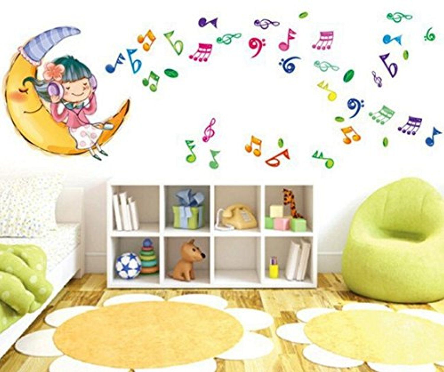 Ckerchen DIY 19Wx27L(50x70cm) Wall Decal Girl Listen To Music Sweet Dream  Wall Stickers    Awesome Products Selected By Anna Churchill