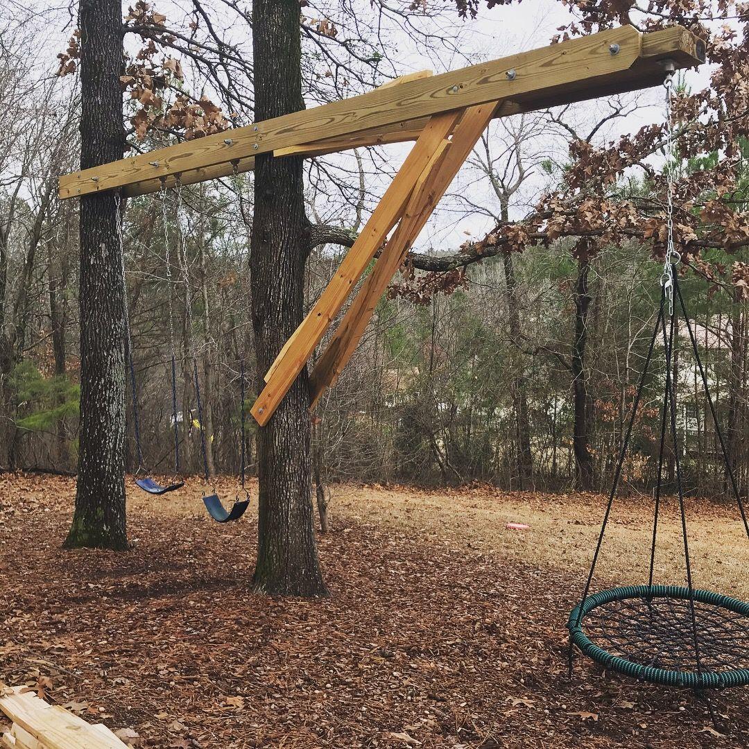 Backyard Tree Swing Backyard Trees Tree Swing Tree Swings Diy