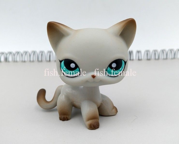 9 99 Lps Littlest Pet Shop Girl Toy Grey Shorthair Cat 391 Green Eyes Christmas Gift Ebay Collectibles Lps Littlest Pet Shop Little Pets Pet Shop