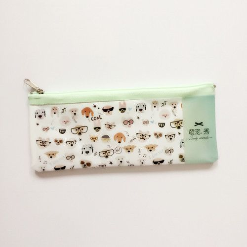 Dog and cat printed Pencil Case | Novelty Pencil bag