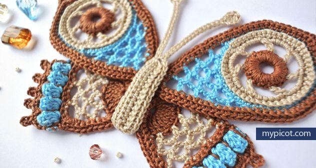 MyPicot | Free crochet patterns - butterfly applique | Yarn love ...