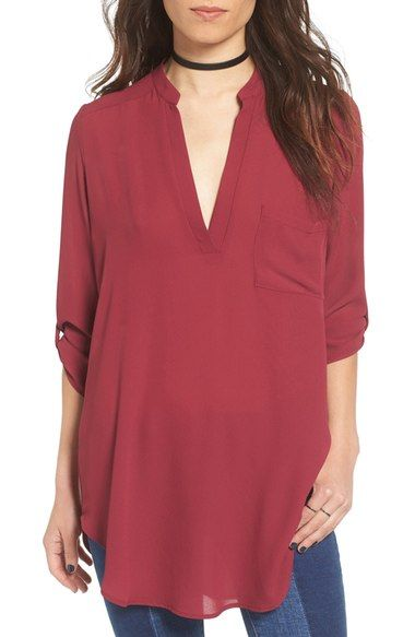 692d45d8487 Lush 'Perfect' Roll Tab Sleeve Tunic available at #Nordstrom ...
