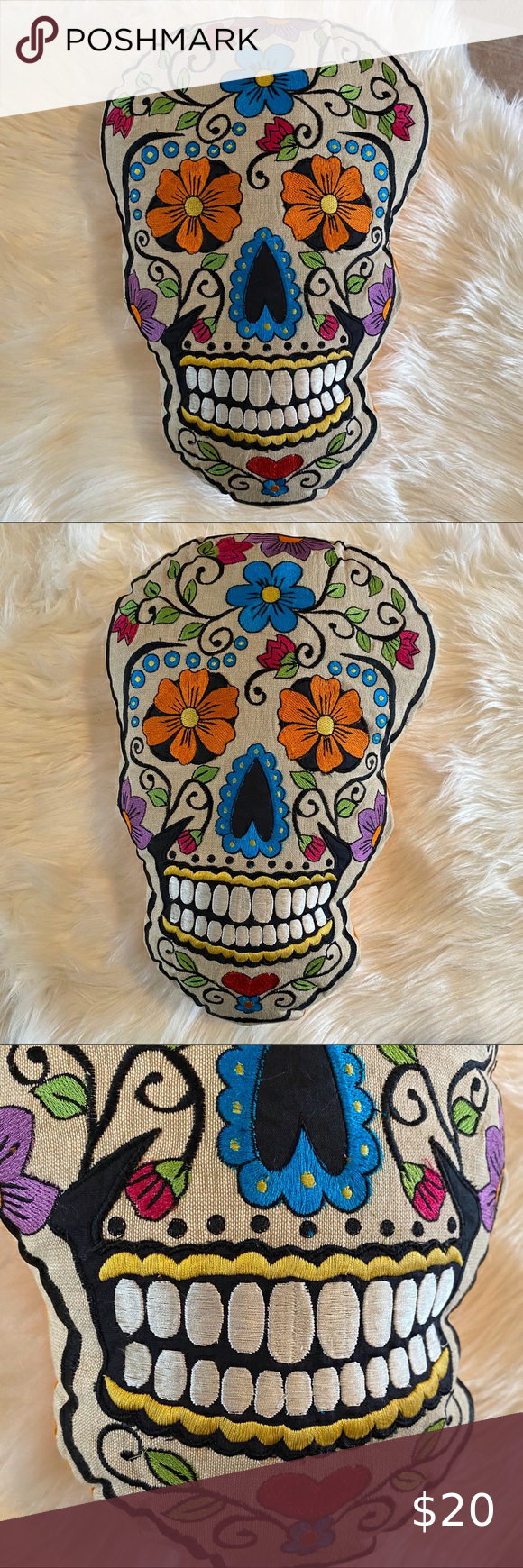 Karma Halloween 2020  KARMA LIBING SUGAR SKULL THROW PILLOW | HALLOWEEN in 2020
