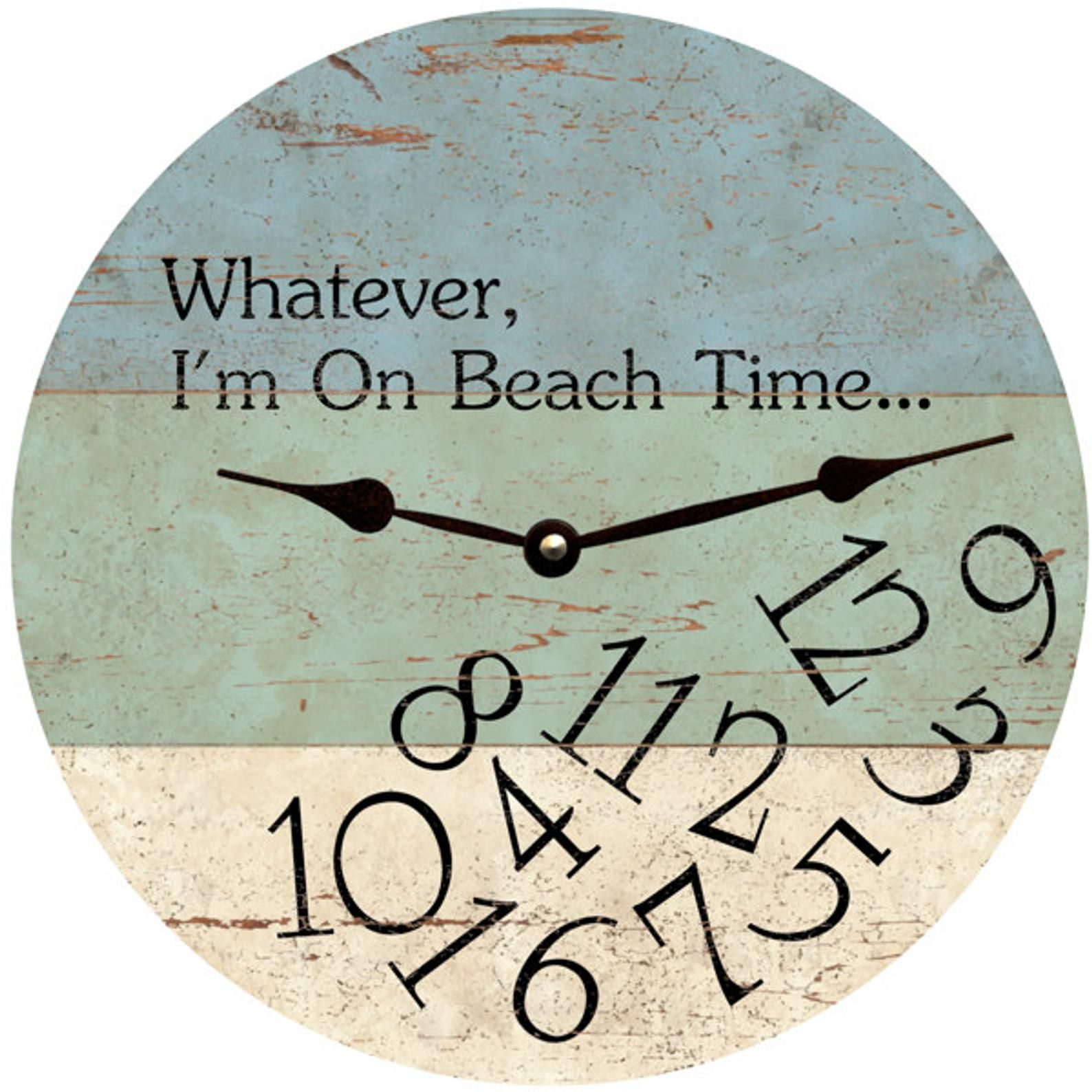 Whatever I M On Beach Time Clock Whatever Wall Clock Etsy Beach Time Clock Beach House Decor Beach Cottage Style