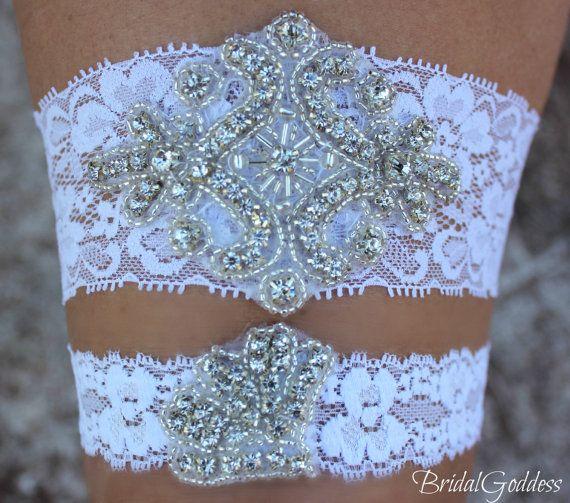 Wedding Garter  Bridal Garter Set  Toss Garter  by BridalGoddess, $23.00
