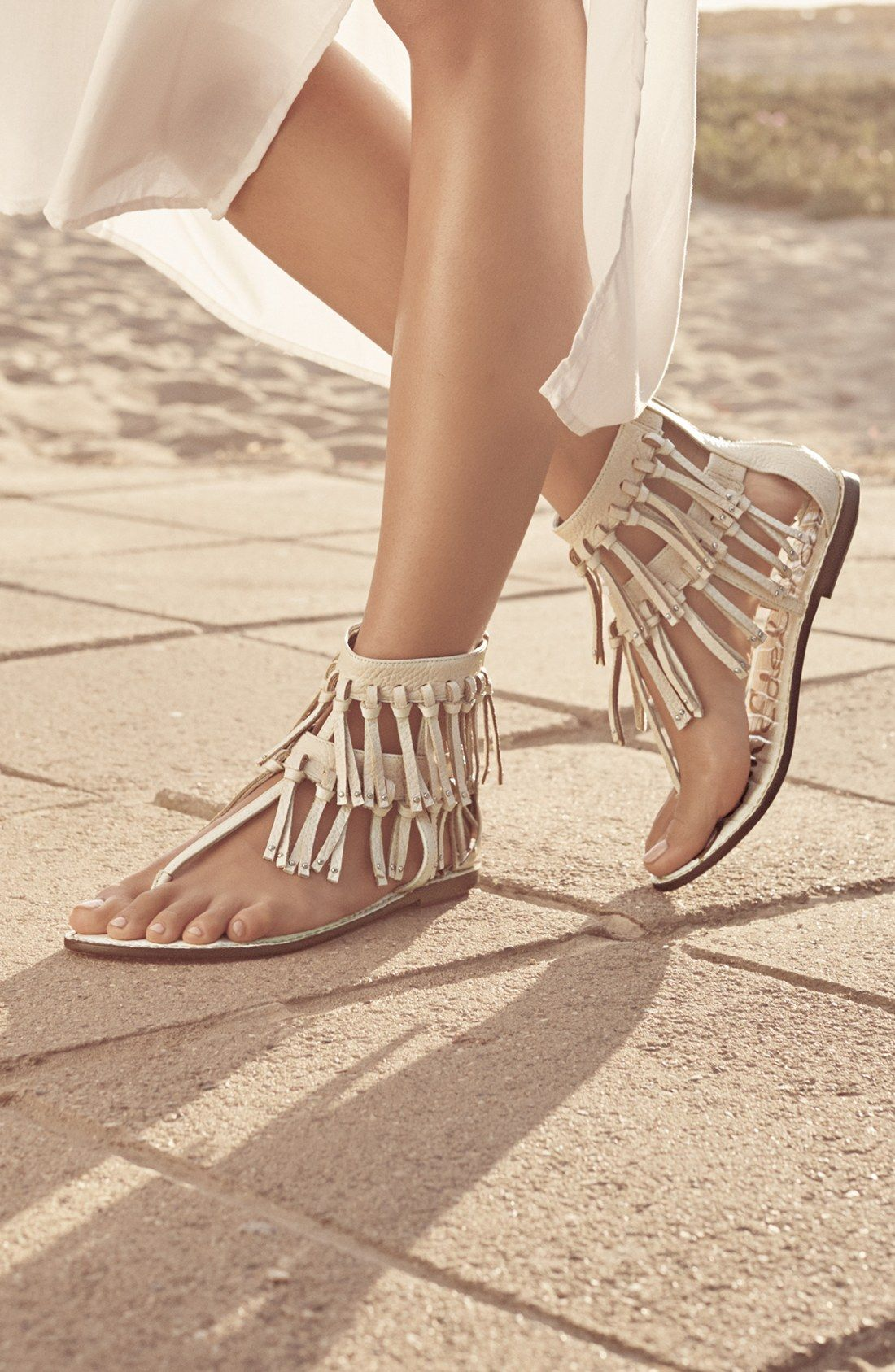 On Trend Boho Chic Sandals With Fringe For A Cool And