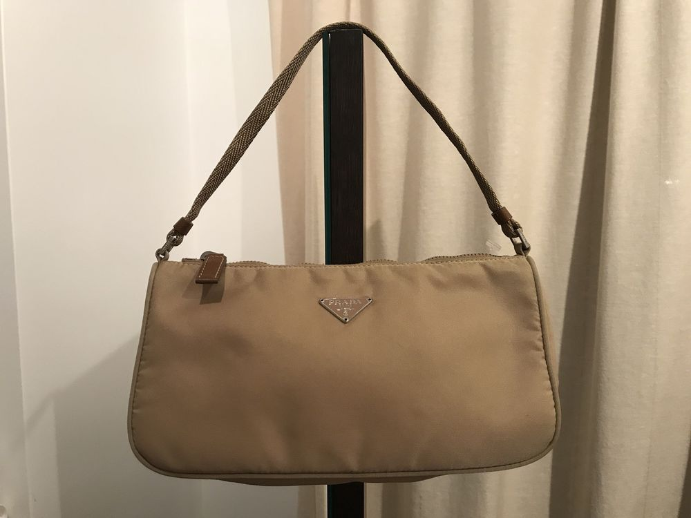 e7b74244efebe1 PRADA Purse Nylon Bag Tessuto Logo Beige Zip Mini Small #fashion #shoulder # sale #product #purse
