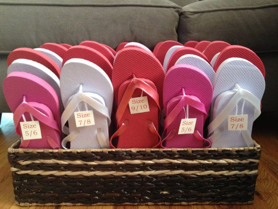 Flip Flops For Wedding Guests By Rosesdetails On Etsy 250 00