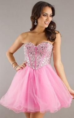 Princess Pink Tulle A-line Sweetheart Short/Mini Dress | Dresses ...