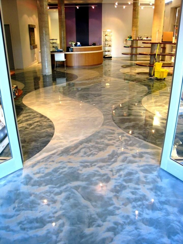 Amazing decorative concrete floor metallic colored epoxy all the way pinterest decorative - Why you should consider concrete staining for your home ...
