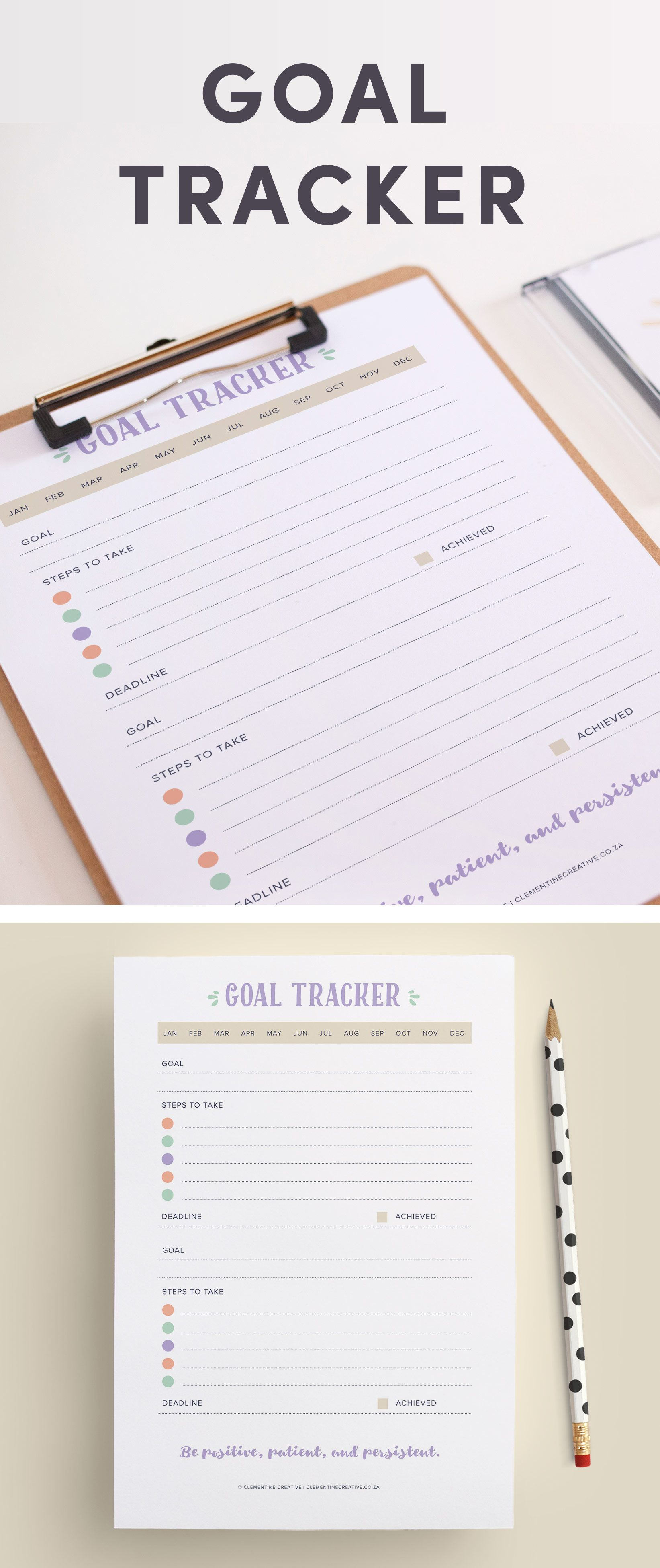 Keep Track Of Your Goals With This Printable Goal Tracker