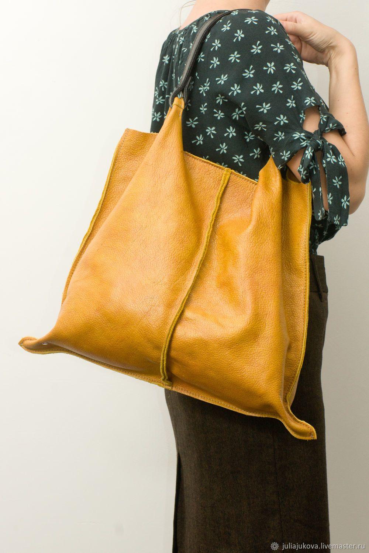 404b0eecf39f Julia Jukova bags Купить Рыжая сумка мешок с косметичкой, натуральная кожа,
