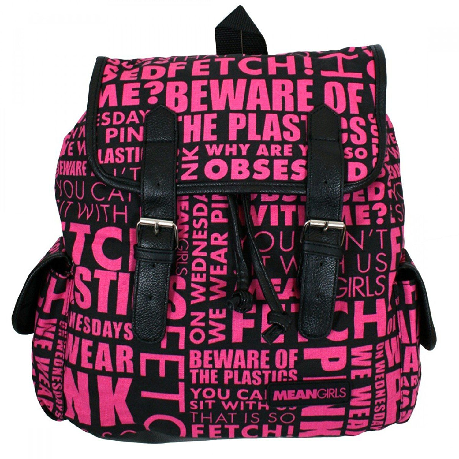 mean girls movie quotes black pink school book bag backpack