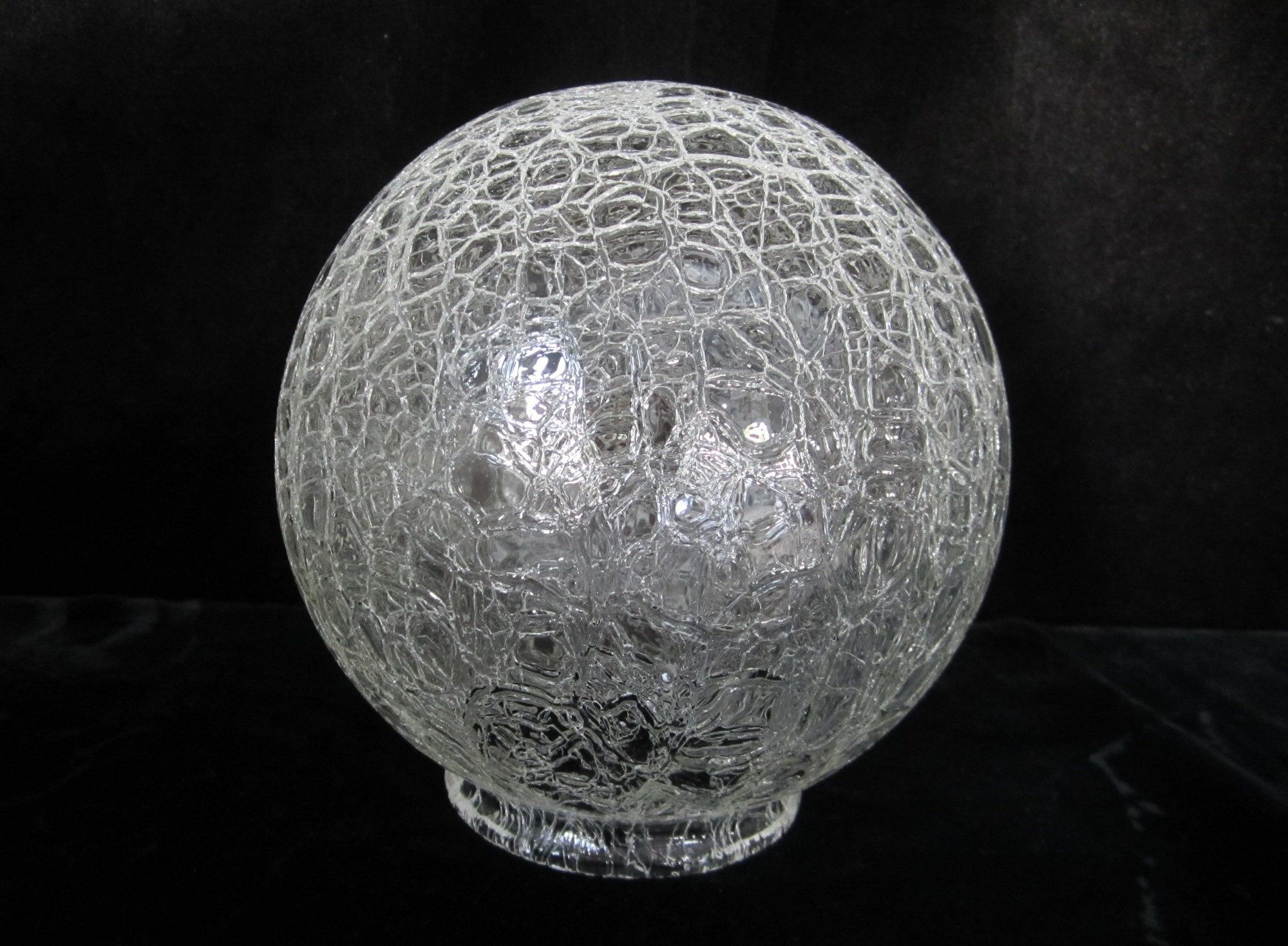 6 Crackle Glass Ball Shade Clear Textured Globe For 3 1 4 Fitter