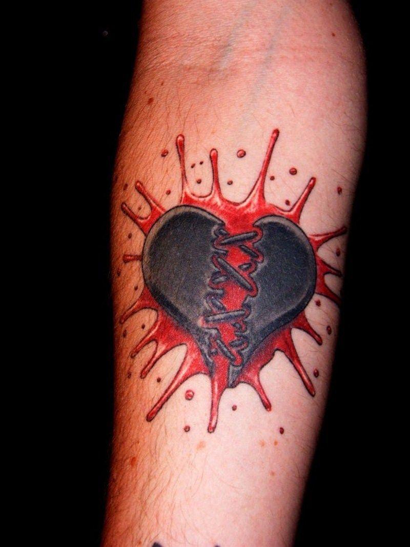 a6e62ea5e59cb Broken Bleeding Heart Tattoo Broken heart with wings tattoo. Heart Tattoos  Designs, Ideas ...