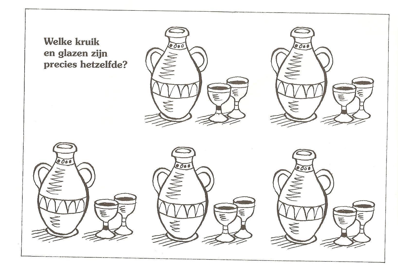 welke kruik en glazen zijn precies hetzelfde nt jezus
