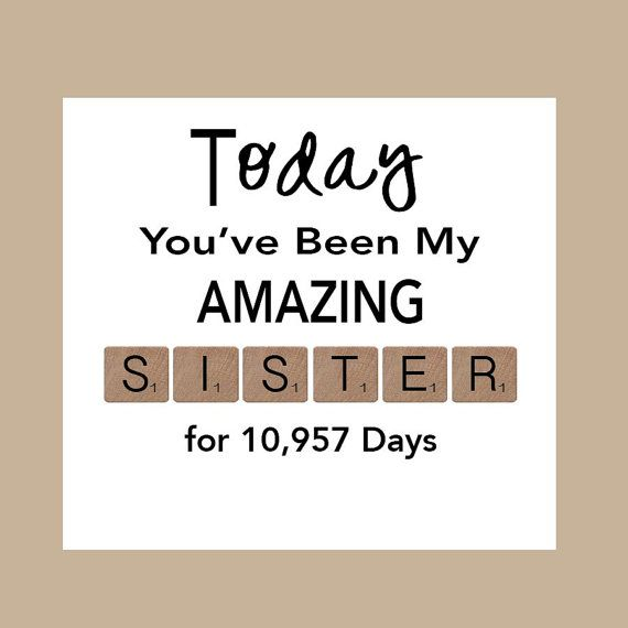 Sister Birthday Card Big Sister Birthday Card By Daizybluedesigns