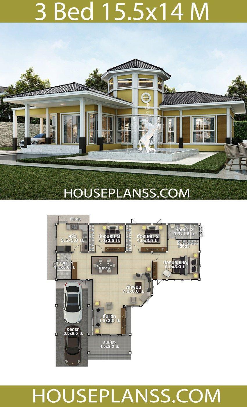 House Plans Idea 15 5x14 With 3 Bedrooms House Plans 3d House Construction Plan House Design Duplex House Design