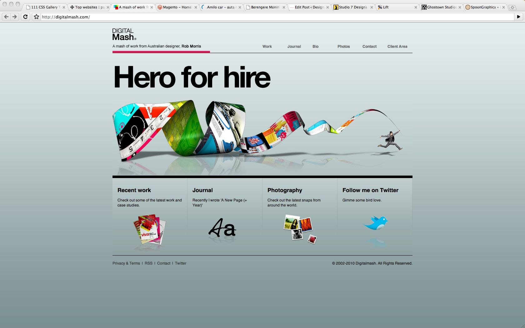 15 Beautiful Css Based Website Heroes Amber Weinberg Freelance Front End Wor Graphic Designer Portfolio Creative Website Design Beautiful Website Design