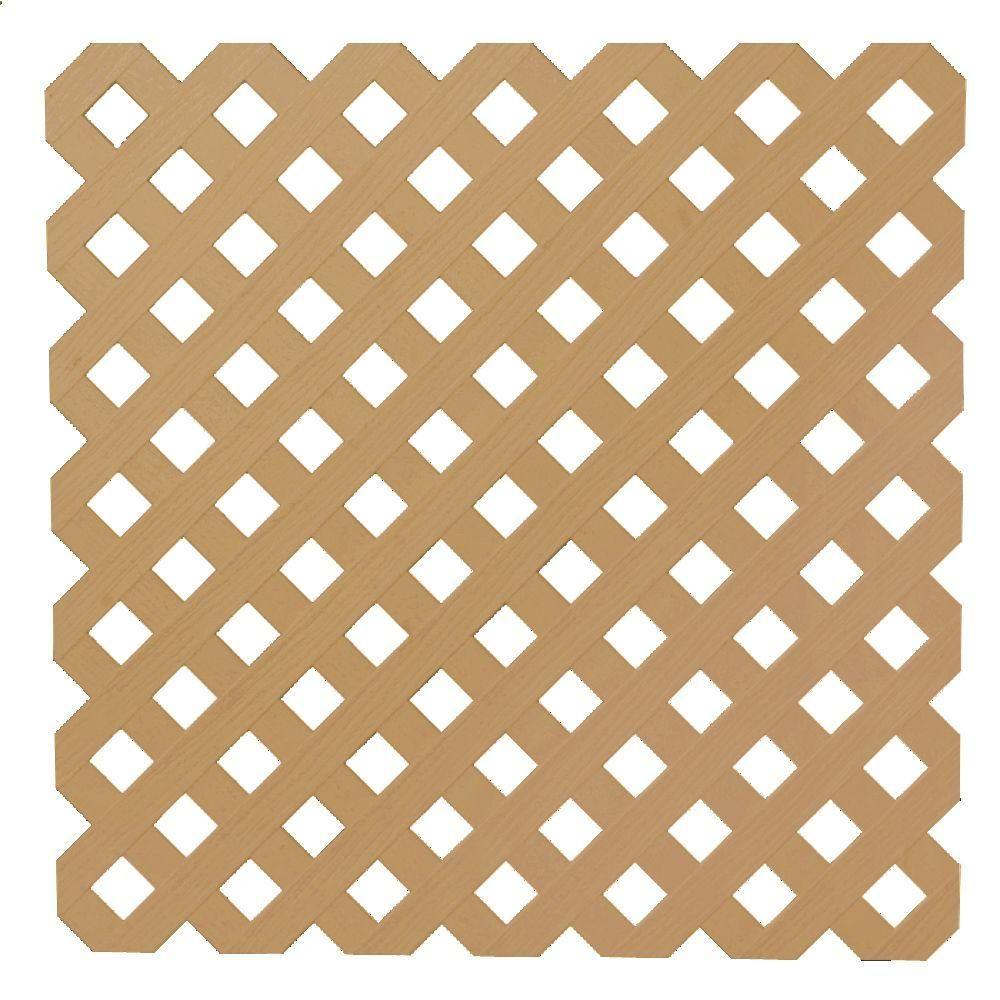 Veranda 0 2 In X 48 In X 8 Ft Cedar Privacy Plastic Lattice 79940 The Home Depot Plastic Lattice Lattice Privacy Lattice Panels