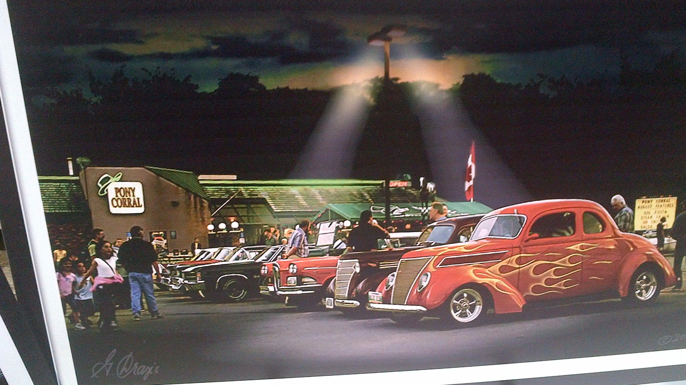 Pony Corral Auto Show Paining (Winnipeg Manitoba Canada) Vintage ...