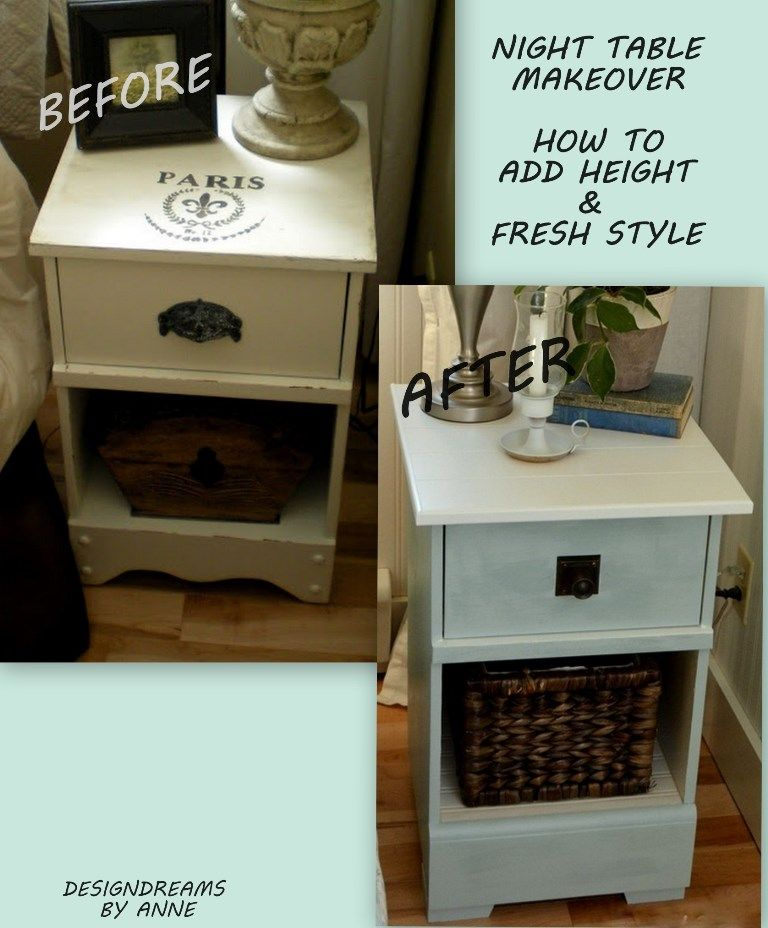 Delicieux DesignDreams By Anne: Night Stand Makeover   How To Add Height U0026 Style To A