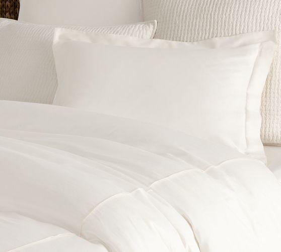 Essential Sateen Duvet Cover White Bedding Duvet Covers Traditional Duvet Covers