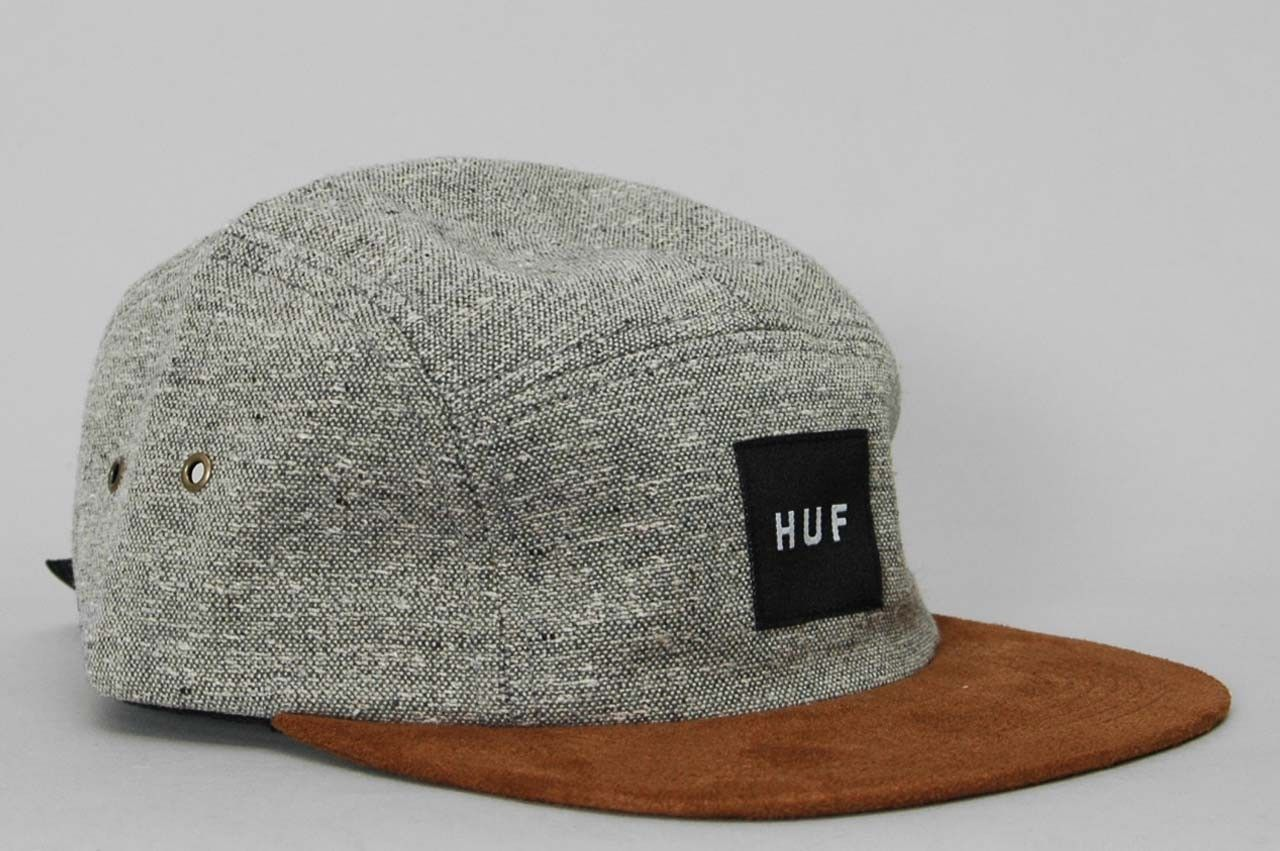 7162cad0 HUF - Tweed 5 Panel Volley Cap - Grey Mens Fashion Wear, Stylish Mens  Fashion