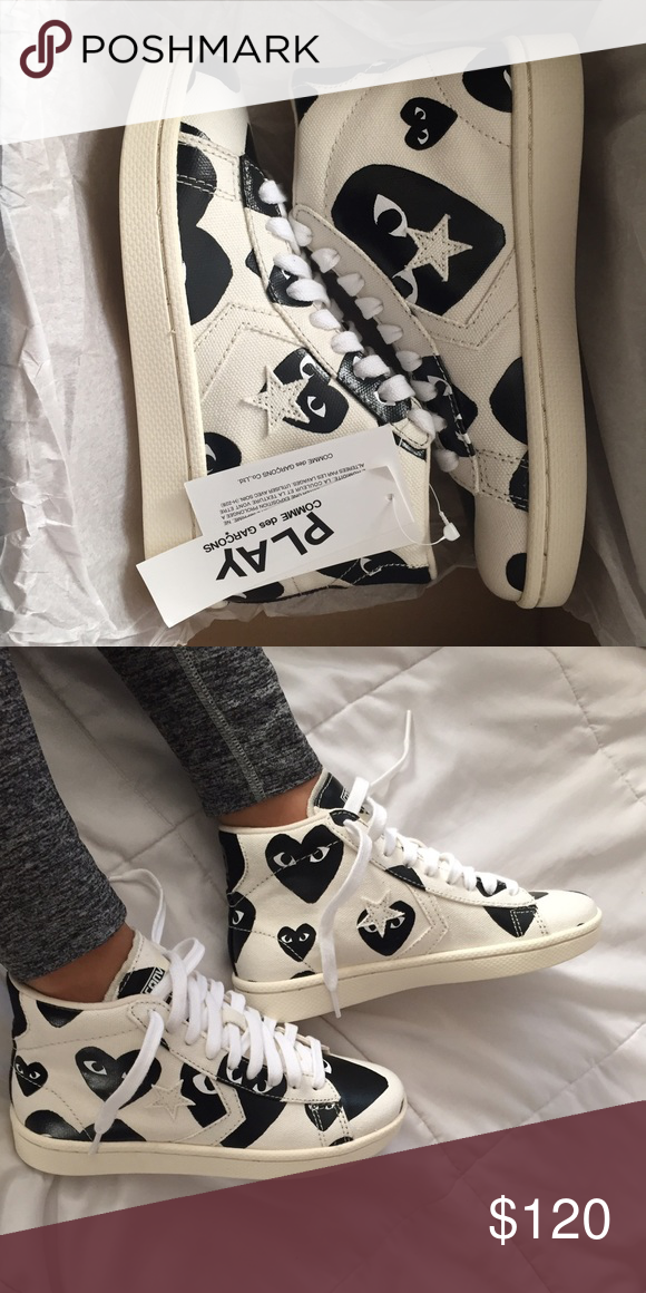 ebb779338007 Cdg converse Brand new with tags high top canvas converse Comme des Garcons  Shoes Sneakers