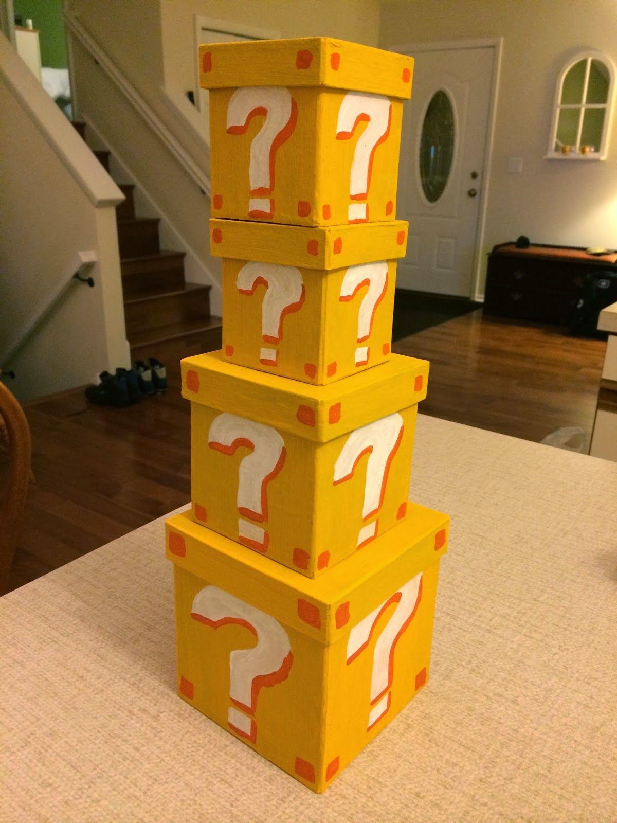Mario Question Mark Boxes For Super Mario Bros Themed Baby