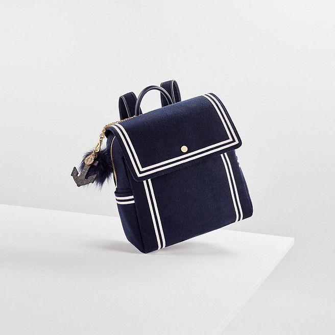 Tommy Hilfiger Nautical Backpack Gigi Hadid Navy Felt Tommy Hilfiger Backpacks Main Image Bags Nautical Backpacks Preppy Handbags