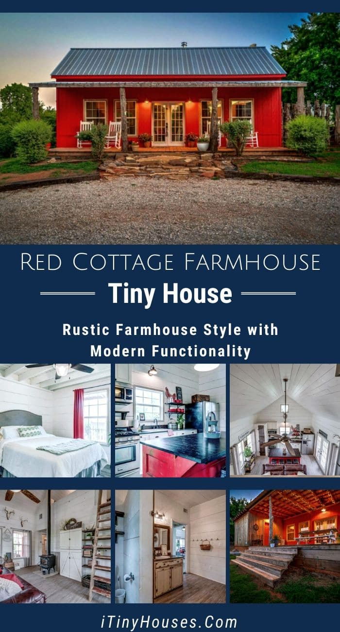 Oklahoma Couple Built Stunning Red Cottage in Farm