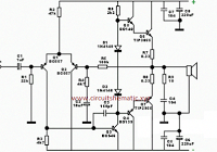 Subwoofer Home Theater Amplifier circuit is designed for